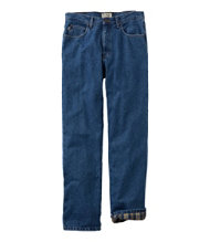 Bean's Double L Jeans, Flannel-Lined Classic Fit