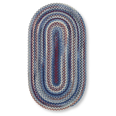 Bean's Braided Wool Rug, Oval