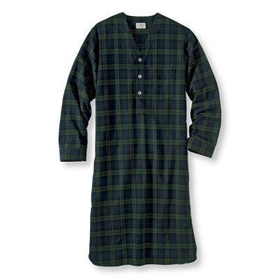 Scotch Plaid Flannel Nightshirt