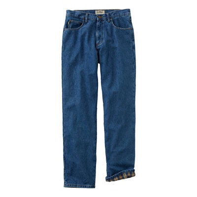 Double L� Jeans, Flannel-Lined Natural Fit