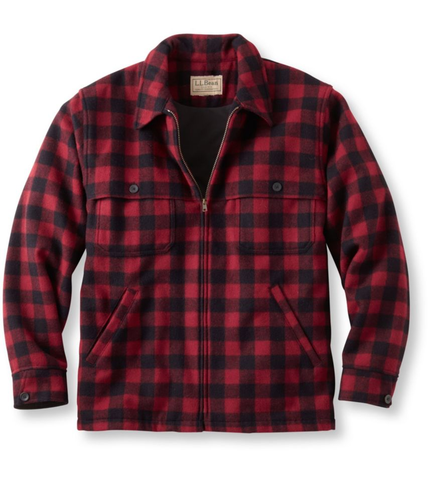 photo: L.L.Bean Maine Guide Zip-Front Jac-Shirt, Windstopper wool jacket