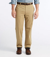 Lined Double L Chinos, Natural Fit Plain Front