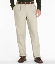Lined Double L Chinos, Natural Fit Pleated