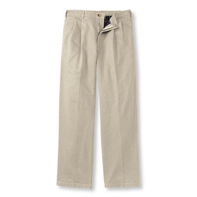 Lined Double L Chinos, Natural Fit, Pleated