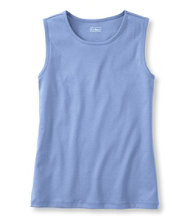 Pima Cotton Tee, Sleeveless Shell