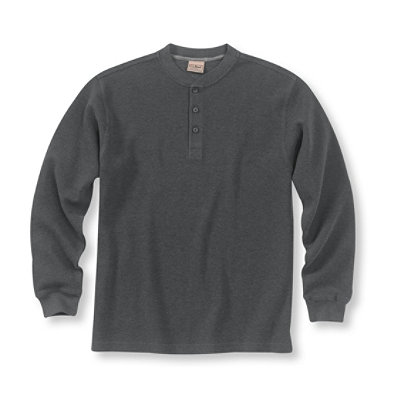 Mini Waffle Henley, Traditional Fit