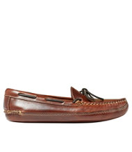 Men's Double-Sole Slippers, Leather Leather-Lined