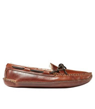 Men's Double-Sole Slippers, Leather Shearling-Lined