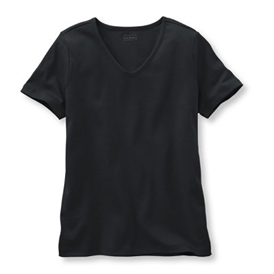 Pima Cotton Tee, Short-Sleeve V-Neck