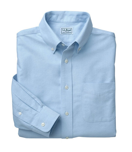 Men 39 s wrinkle free classic oxford cloth shirt traditional for Ll bean wrinkle resistant shirts