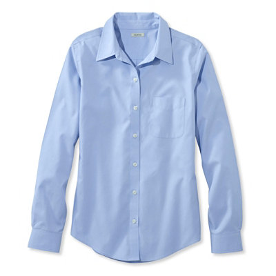 Wrinkle-Resistant Pinpoint Oxford Shirt, Long-Sleeve