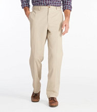 Double L Chinos, Natural Fit Plain Front