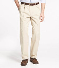 Double L Chinos, Natural Fit Pleated