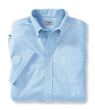 Wrinkle-Resistant Classic Oxford Cloth Shirt, Short-Sleeve