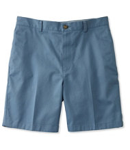 "Wrinkle-Resistant Double L� Chino Shorts, Plain Front 8"" Inseam"