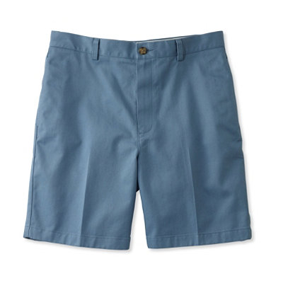 "Wrinkle-Resistant Double L Chino Shorts, Natural Fit Plain Front 8"" Inseam"