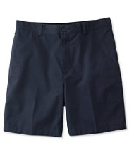"Wrinkle-Resistant Double L� Chino Shorts, Natural Fit Plain Front 8"" Inseam"