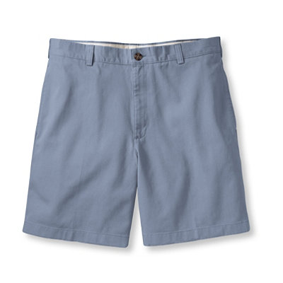 "Wrinkle-Resistant Double L Chino Shorts, Natural Fit Plain Front 6"" Inseam"