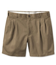 Wrinkle-Resistant Double L Chino Shorts, Natural Fit Pleated 6