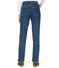 Double L Jeans, Relaxed Flannel-Lined