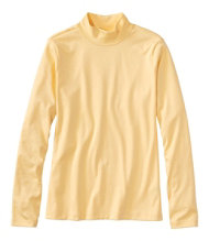 Pima Cotton Tee, Long-Sleeve Stand-Up Neck