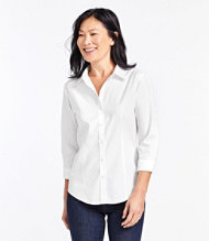 Women 39 s shirts and tops free shipping at l l bean for Ll bean wrinkle resistant shirts