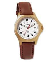 Men's Classic Field Watch, Gold-Plated
