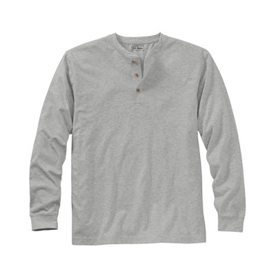 Carefree Unshrinkable Henley, Long-Sleeve