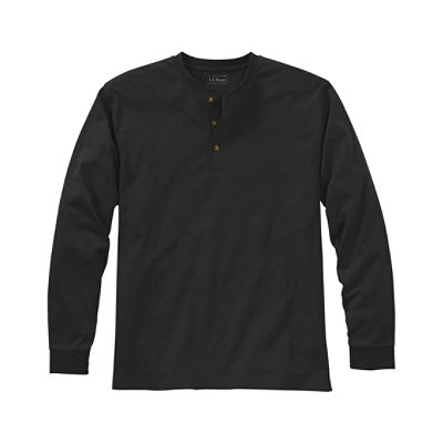 Carefree Unshrinkable Tee, Traditional Fit Long-Sleeve Henley