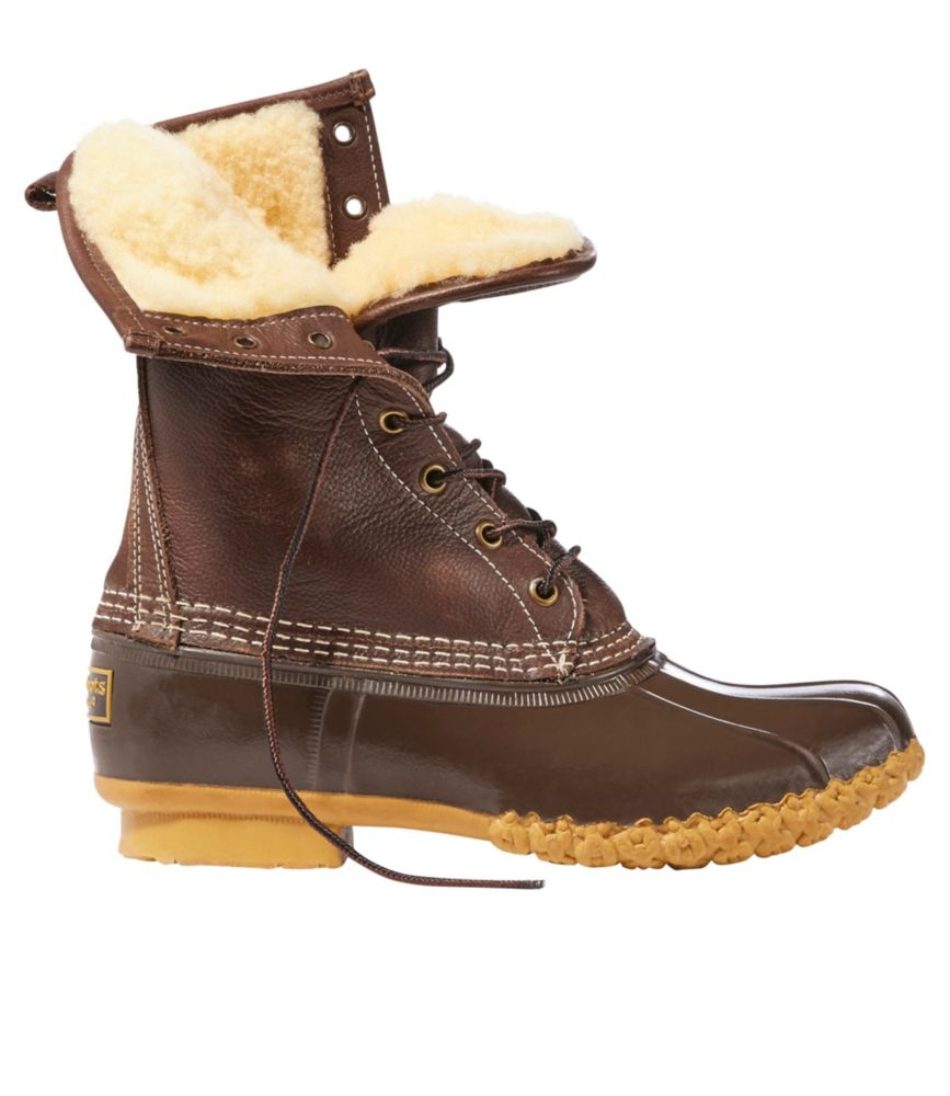 "photo: L.L.Bean Women's Bean Boots, 10"" Shearling-Lined"