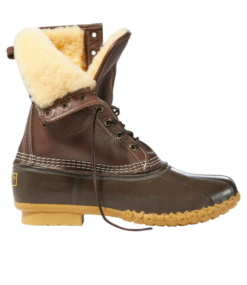 "photo: L.L.Bean Men's Bean Boots, 10"" Shearling-Lined"