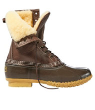 "Men's Bean Boots by L.L.Bean, 10"" Shearling-Lined"