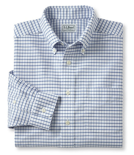 Men 39 s wrinkle resistant classic oxford cloth shirt for Ll bean wrinkle resistant shirts