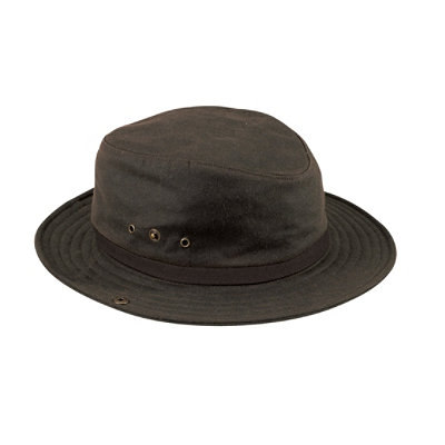 Waxed Cotton Packer Hat