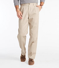 Men's Double L Chinos, Natural Fit Hidden Comfort Pleated