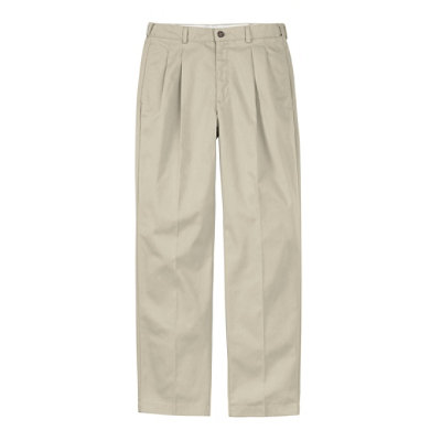 Double L� Chinos, Natural Fit Hidden Comfort Pleated
