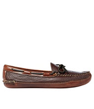 Men's Double-Sole Slippers, Bison Leather-Lined