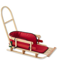 Kids' Pull Sled and Cushion Set with Push Handle, Large