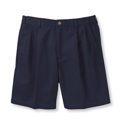 "Double L Chino Shorts, Natural Fit Pleated Hidden Comfort 6"" Inseam"