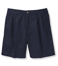 "Double L� Chino Shorts, Natural Fit Pleated Hidden Comfort 8"" Inseam"