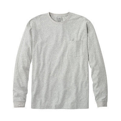 Carefree Unshrinkable T-Shirt, Long-Sleeve with Pocket