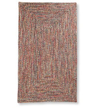 All-Weather Braided Rug, Concentric Pattern