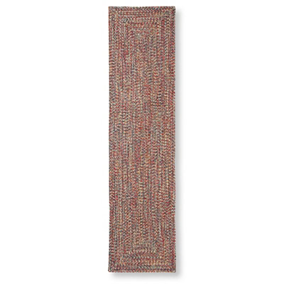 All-Weather Braided Rectangular Runner, Concentric Pattern