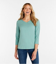 Bean's Tee, Three-Quarter Sleeve V-Neck