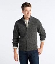 Classic Ragg Wool Sweater, Full-Zip