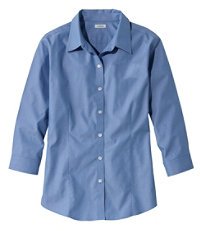 Women's ¾-Sleeve Pinpoint Oxford Shirt