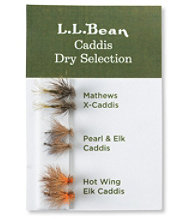 Six-Pack Fly Selection, Caddis Dry Flies