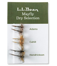 Six-Pack Fly Selection, Mayfly Dry Flies