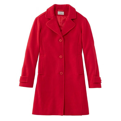 Women's Classic Lambswool Polo Coat, Three-Quarter-Length