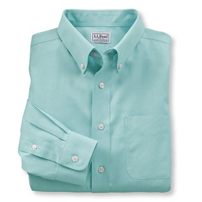 Wrinkle-Resistant Pinpoint Oxford Cloth Shirt